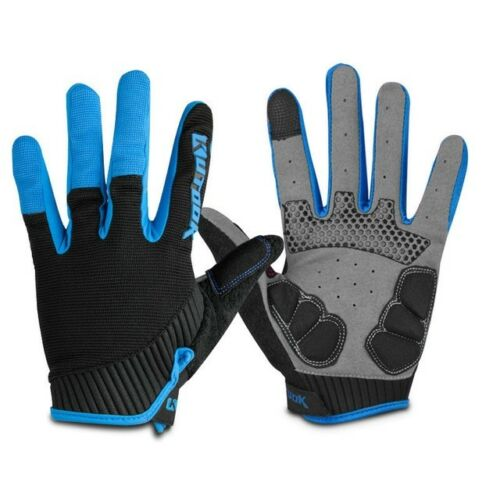 Outdoor Sport Gloves Mens Fitness Gloves Long Finger Winter Windproof Cycling Bi
