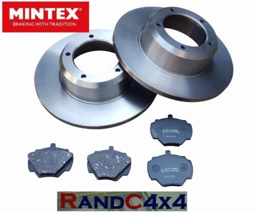 Land Rover Defender Rear Brake Discs /& MINTEX Brake Pads 200 300 tdi V8