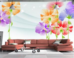 3D Gouache Flowers 732 Wall Paper Murals Wall Print Wall Wallpaper Mural AU Kyra