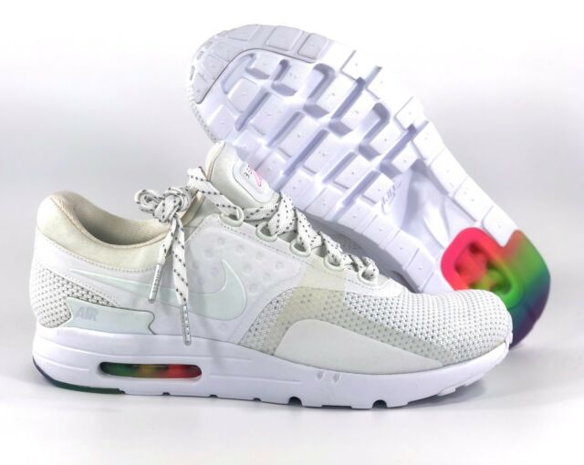 best website 089f5 e53db Nike Air Max Zero QS Be True LGBTQ Pride White Multicolor 789695-101 Men s  11