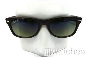 b94bc20140f Ray Ban New Wayfarer Tortoise Green Blue Polarized Sunglasses RB2132 ...