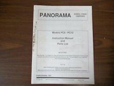Panorama Wheel Rake Carrier Models Pc8 Pc12 Instruction Manual Amp Parts List