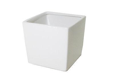 Bello Cubo Ceramica Bianca 7.5x7.5x7.5 Cm Contenitore Per Composizioni E Arredo Facile Da Riparare