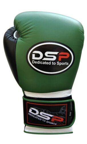 Leather Boxing Gloves Professional MMA Sparring Punch Bag Training Fight Mitt
