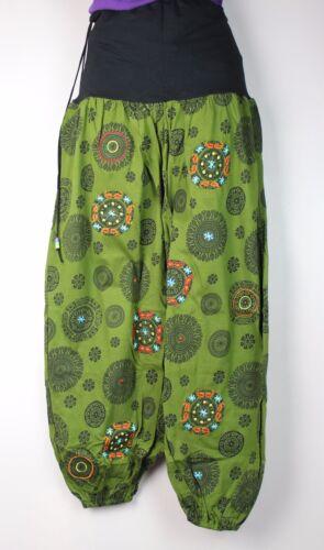 Aladdin Festival Harem Cotton Trousers Hippy Boho Yoga Pants Stretch Casual S5