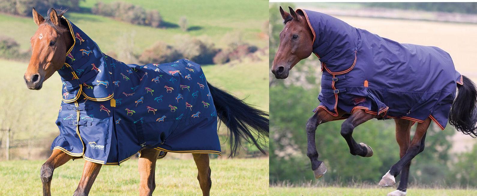 Shires Highlander 200g Combo collo fisso cavallo o Pony Impermeabile Tappeto Affluenza Alle Urne