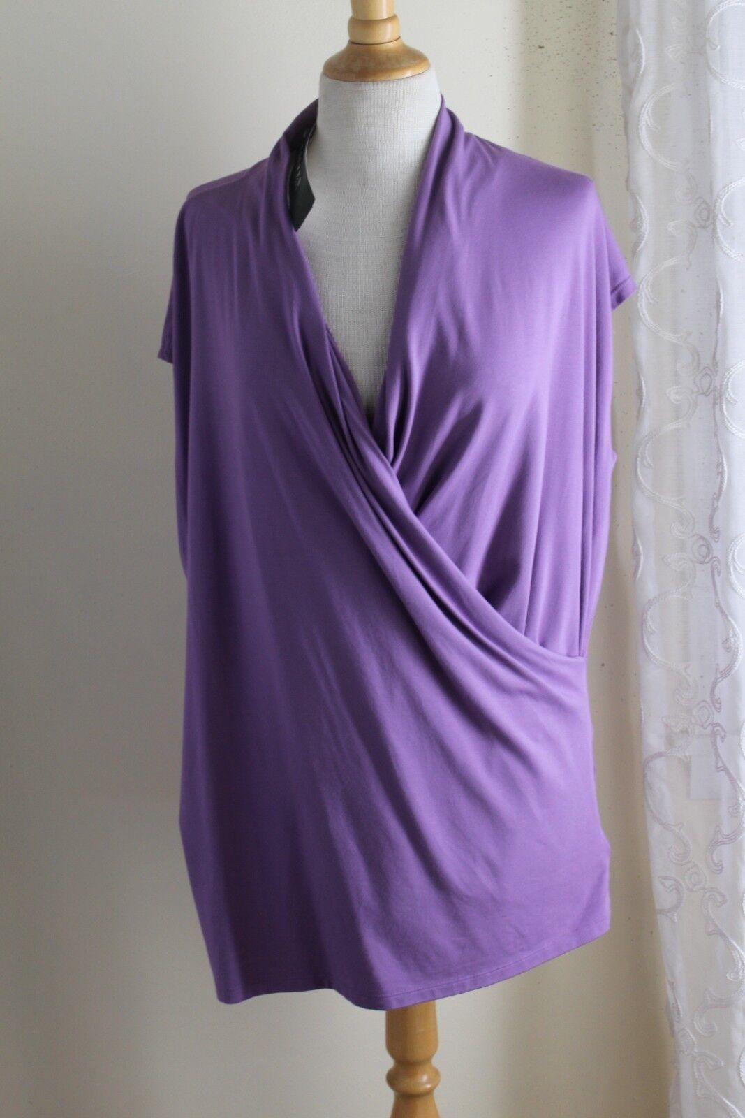NWT Ralph Lauren -Sz 2X Fabulous Luxurious S S Wrap Jersey Knit Shirt Top