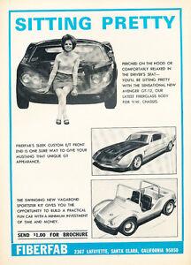 1967 Fiberfab Vegabond and Mustang Original Car Advertisement Print Ad J154