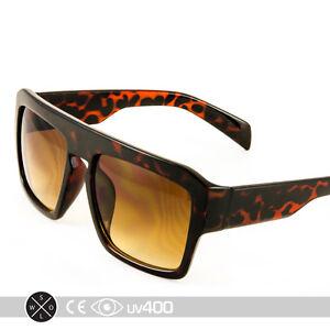 Trendy Matte Tortoise Flat Top Hipster Fashion New Sunglasses Glasses S093