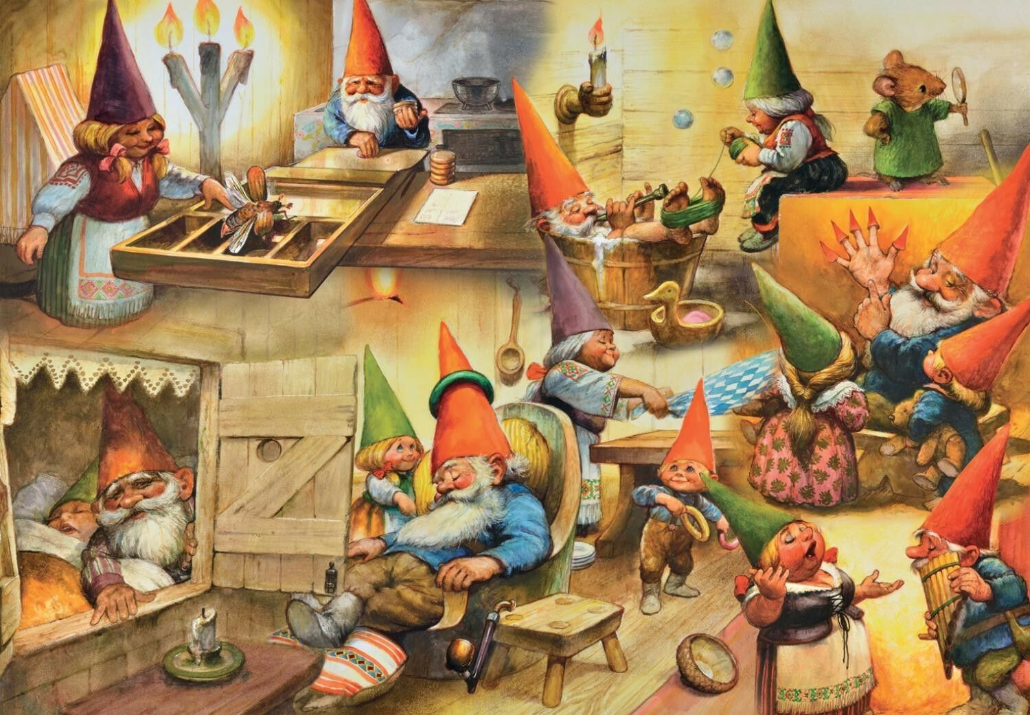 David the Gnome Gnome Gnome Rien Poortvliet Jigsaw Puzzle 1000pc NEW At Home with the Gnomes 4857d2