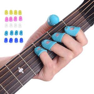 12x Guitar Finger Protector Fingertip Picks Silicone Guard Plectrum Bass Ukulele