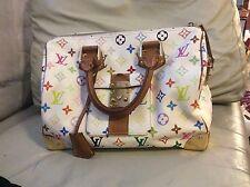 Authentic Louis Vuitton speedy 30 multicolore hand  bag tote purse satchel