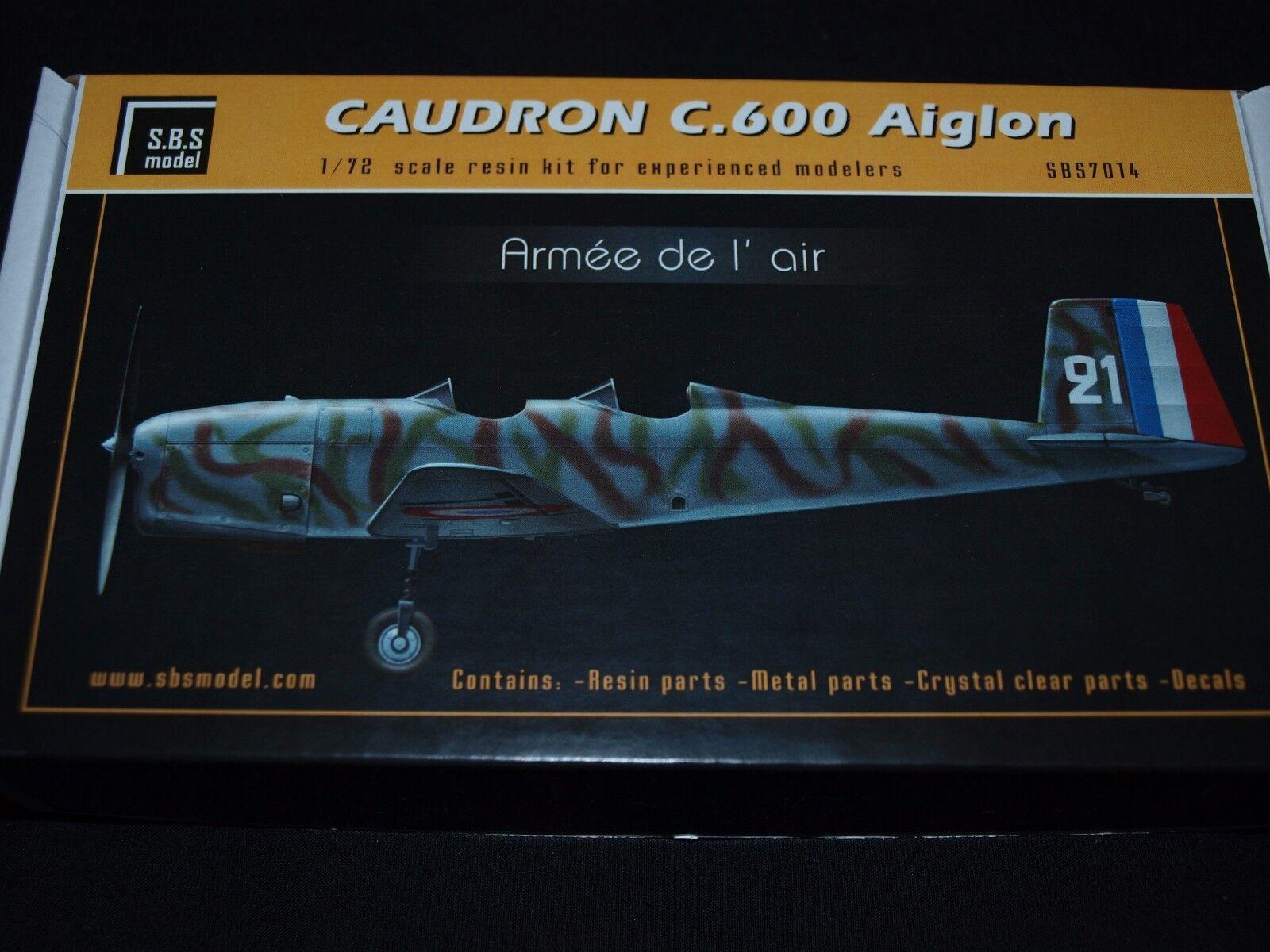 S.B.S modellllerler, 1 72, 704, Caudron C.600 Aiglon'ARMEE DE l'AIR 'komplett kit
