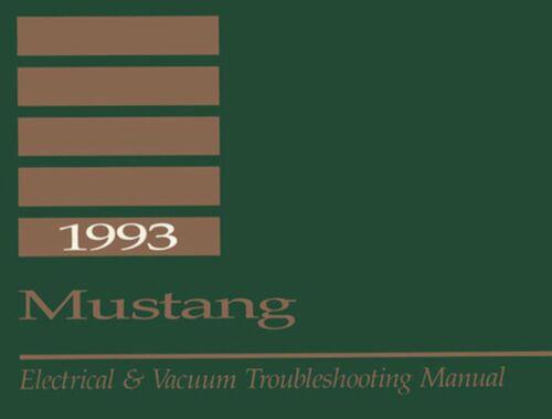 Bishko OEM Repair Maintenance Shop Manual Bound for Ford Mustang Evtm 1993