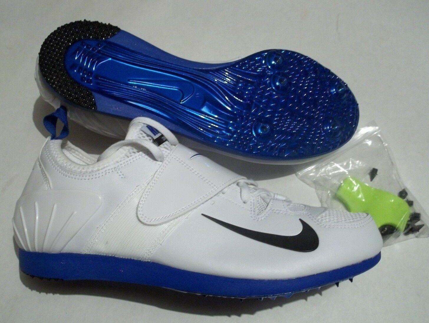 New Nike Zoom PV II Pole Vault Track Shoes With Spikes & Tool 317404-100