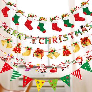 ALBERO-di-Natale-fai-da-te-da-appendere-Bandiere-Banner-Ornamento-Regalo-Di-Natale-A-Casa-Giardino