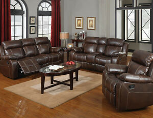 Image Is Loading Double Gliding Sofa W Console Set Bonded