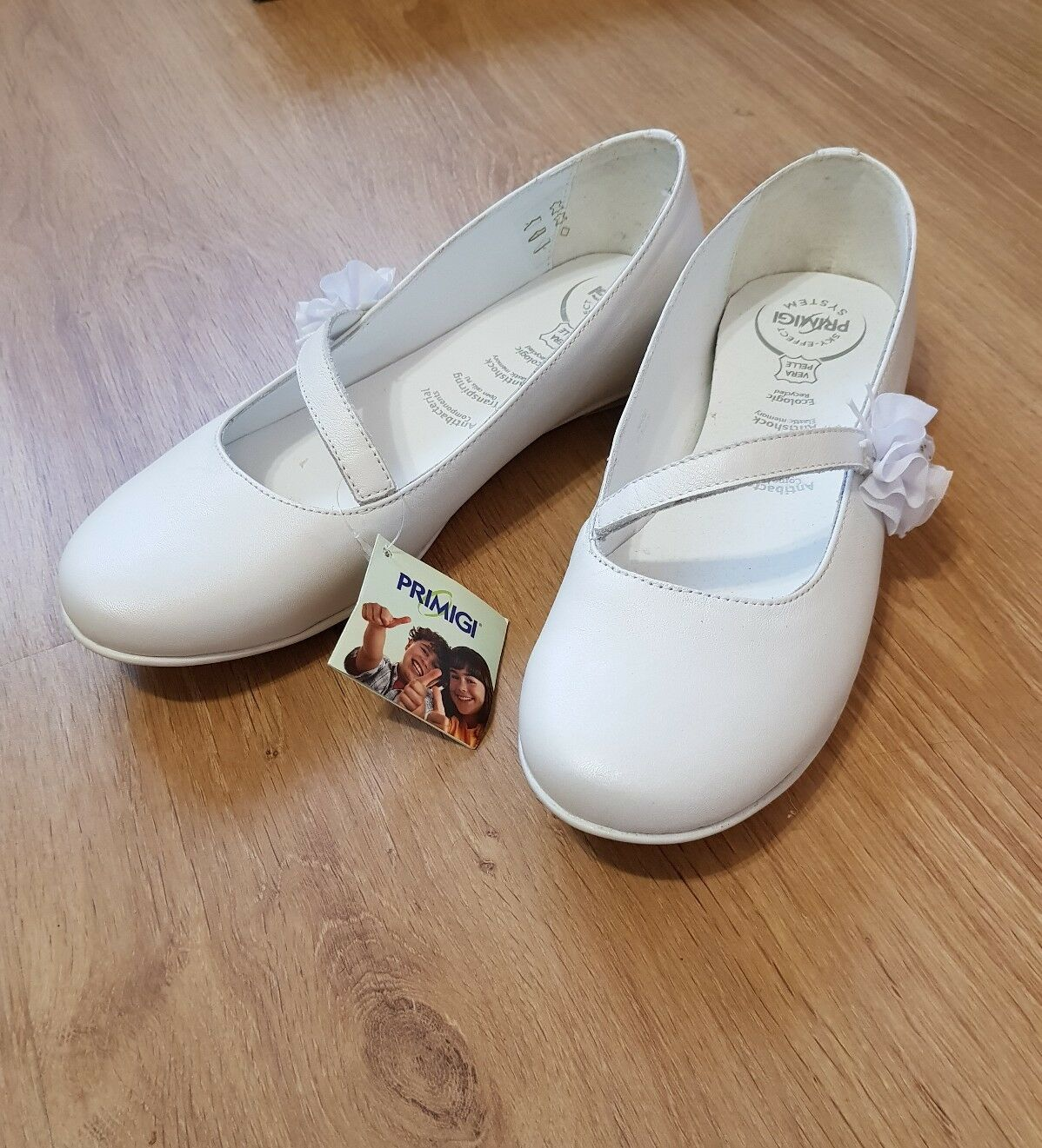 Women's PRIMIGI Made  Leather shoes White color Size UK 6   EU 39 - New