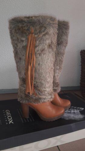 neuwertig Stiefel gr Mit 38 Leder Fell WRSTxTa