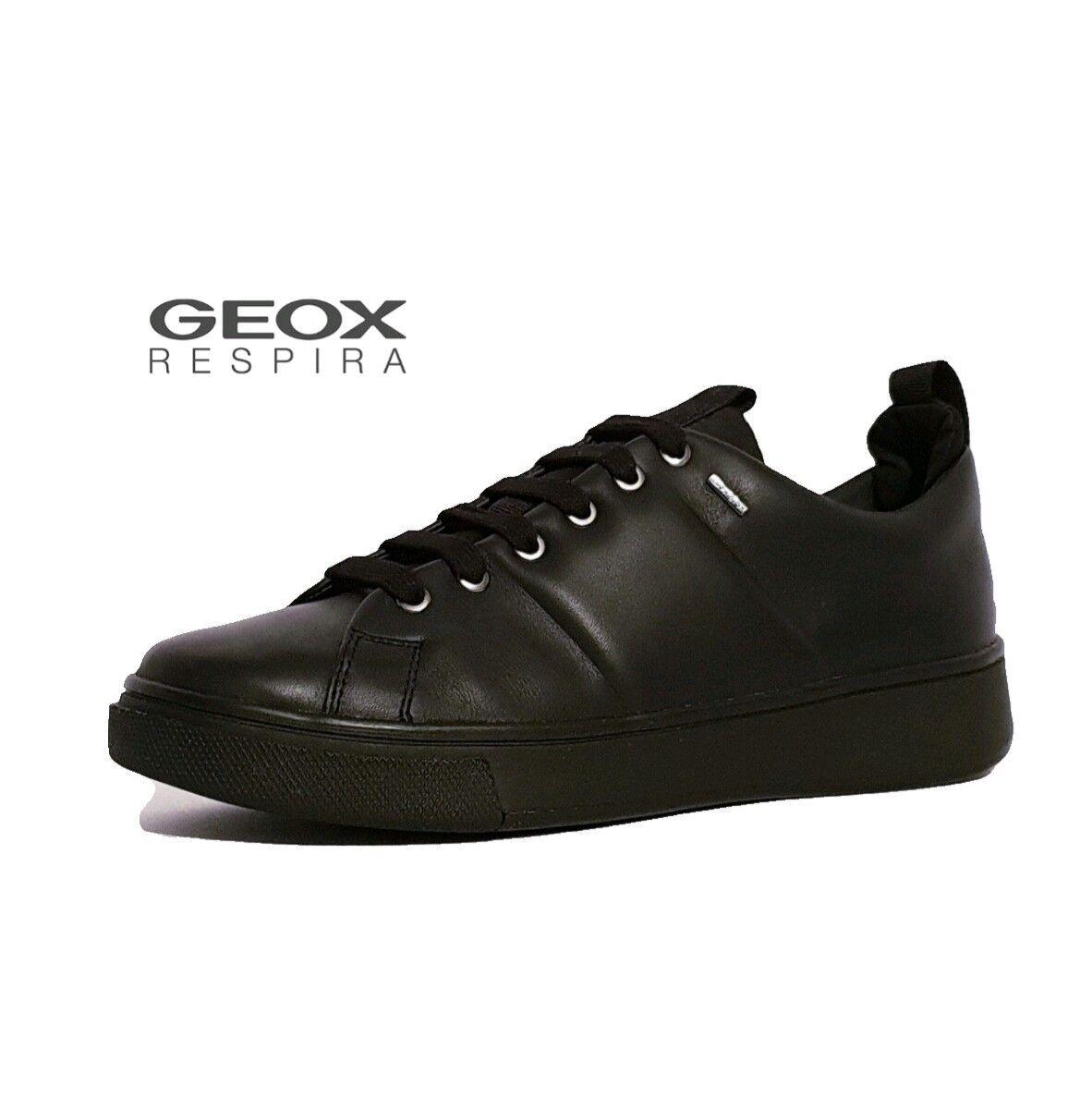 Geox amphibiox mayrah mayrah mayrah ABX Negro Cuero Impermeable Zapatillas Zapatos para mujeres damas  suministramos lo mejor