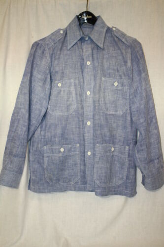 "JOHN WEITZ Cabana Shirt & Pants Set ""Blue Jean"" Ca"