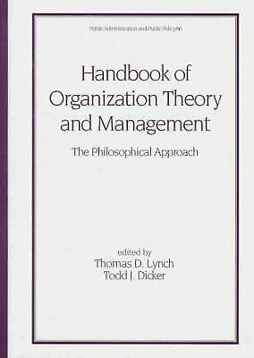 Handbook of Organization Theory and Management Vol. 66 : The Philosophical Appro