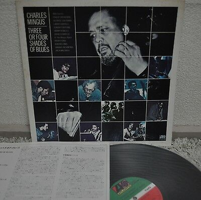 Charles Mingus Three Or Four Shades Of Blues Japan LP 1977 P-10410A Insert