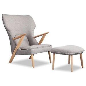 Buy Kardiel Cub Mid Century Modern Lounge Chair Ottoman Online Ebay