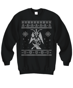 Satanic Christmas Sweater.Details About Baphomet Ugly Sweater Satan Ugly Christmas Sweater Devil Ugly Sweatshirt S