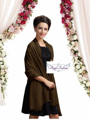 New Chiffon Wrap Stole Shawl For Weddings Bridal Bridesmaid /& Evenings Wear