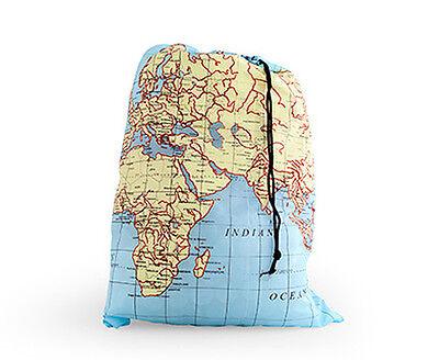 Map Design Travel Laundry Bag by Kikkerland
