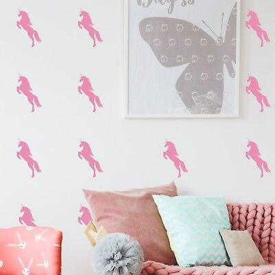 Unicorn Shaped Wall Stickers Decals Tiles Vinyl Art Shapes Kids GirlsSH9