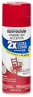 12oz Rust Oleum Ultra Cover Home & Car Multi-surface Spray Paint Gloss Apple Red
