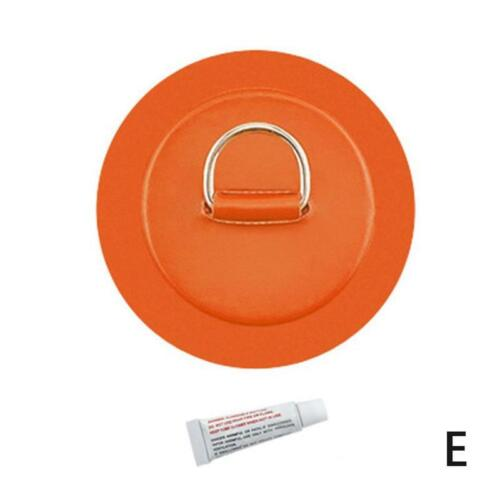 Stainless Steel D Ring Pad Patch Glue For Pvc Inflatable Boat Raft Dinghy Canoe