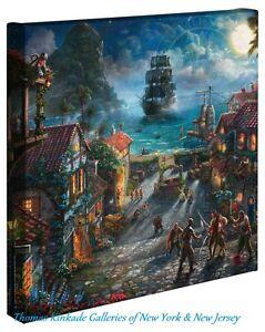 Thomas Kinkade Wrap Pirates Of The Caribbean 14 x 14 Gallery Wrap Canvas