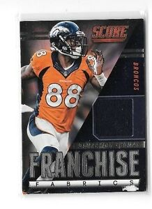 60a1c303 Details about DEMARYIUS THOMAS LOT OF 2 DIFFERENT AUTHENTIC GAME WORN  JERSEY CARDS