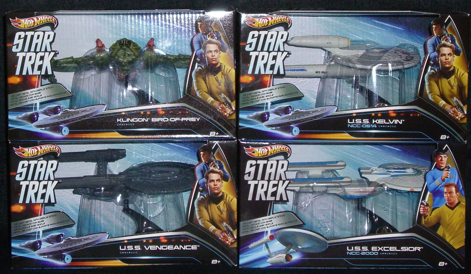 1 50 Hot Wheels - Star Trek Vehicles - Set of 4