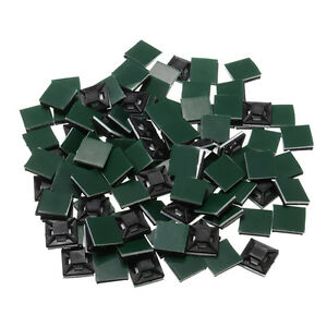 100Pcs-Square-Self-Adhesive-Cable-Tie-Base-Mounts-Bases-Sticky-Socket-13x13x4mm