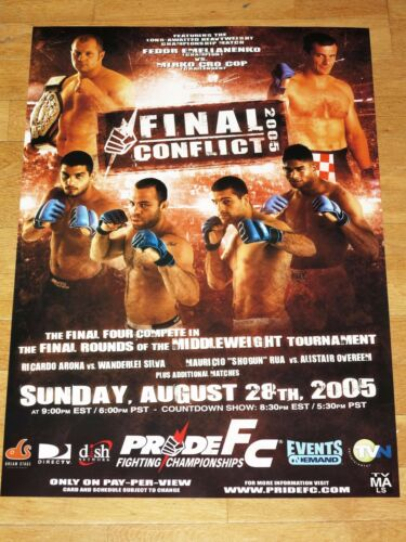 Pride Final Conflict 2005 Poster Crocop Vs Fedor Wanderlei Silva UFC Mma Bjj
