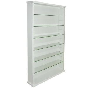 EXHIBIT-LEGNO-MASSELLO-6-ripiano-in-vetro-parete-VETRINETTA-Bianco-3306OC
