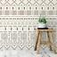 Mud Cloth Pattern Wall Stencil Durable /& Reusable Mylar Stencils