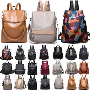 Women-Anti-Theft-Waterproof-Leather-Rucksack-Backpack-Shoulder-Oxford-School-Bag
