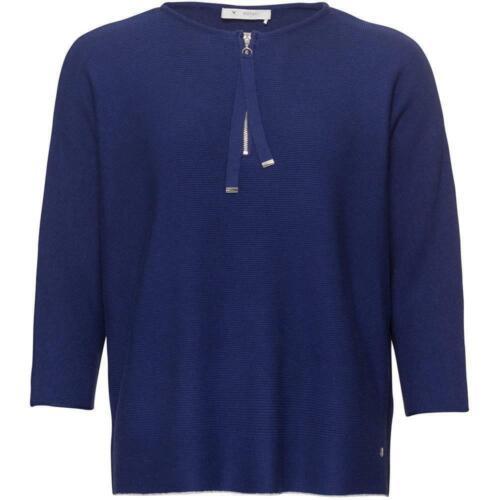 monari modischer Oversized Pullover in Tinte mit tollen Details