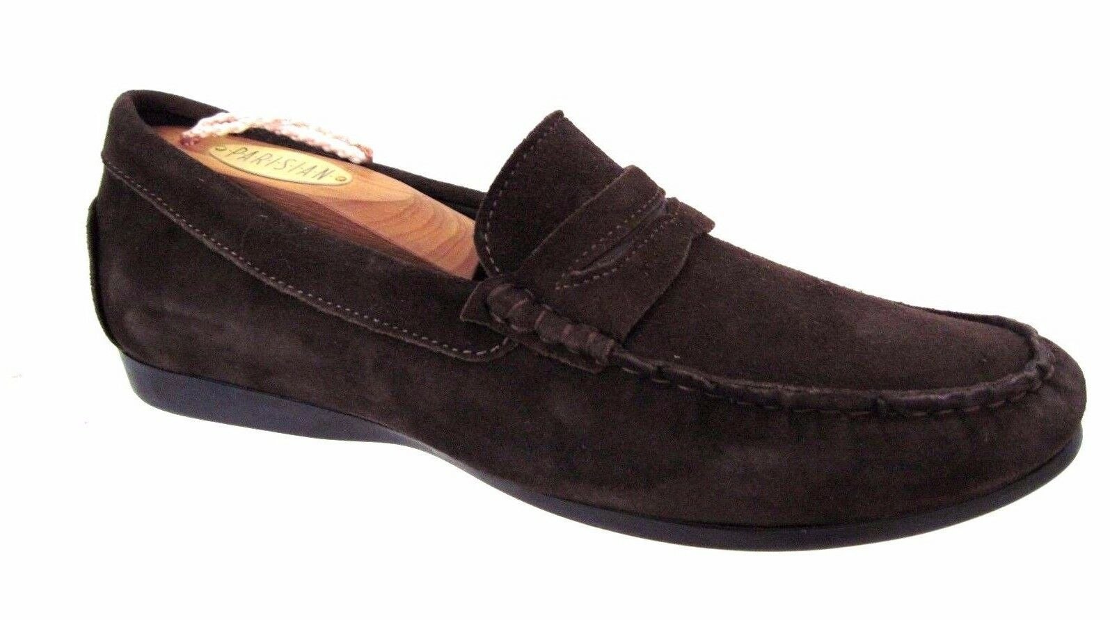 MUNRO American Braun Suede Penny Style Loafers Größe 8 M USA