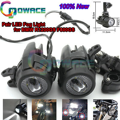 Black 2Pcs Fog Light Safety Auxiliary Lamps Replace For BMW R1200GS ADV F800GS