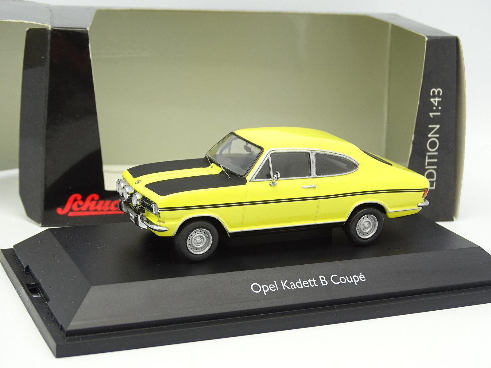 Schuco 1/43 - Opel Kadett B Coupé Gialla Strisce Nere