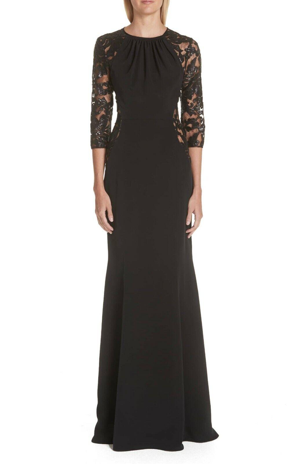 VERDIN Crepe Silk Trumpet Gown ( Size  10 )