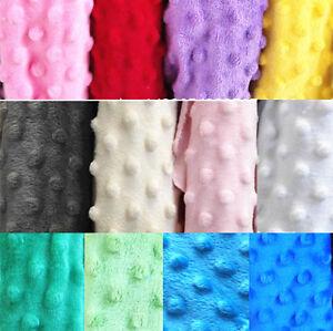 Dimple Minky Dot Soft Cuddle Chenille Plush Fleece Fabric