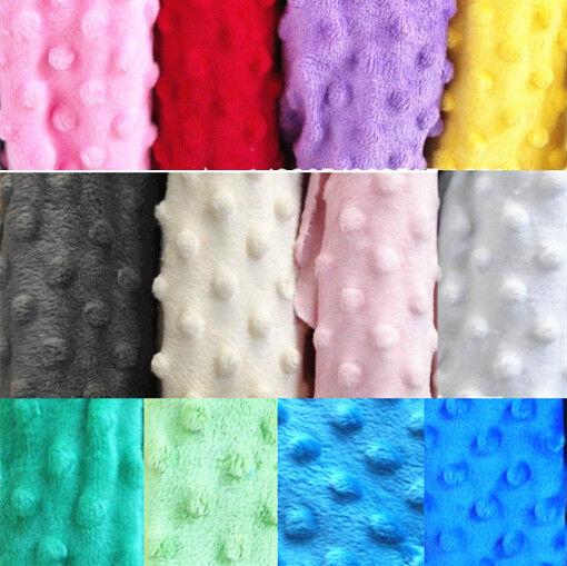 Dimple Spot Popcorn DOT Cuddle Soft Plush Fleece Fabric 150cm Wide
