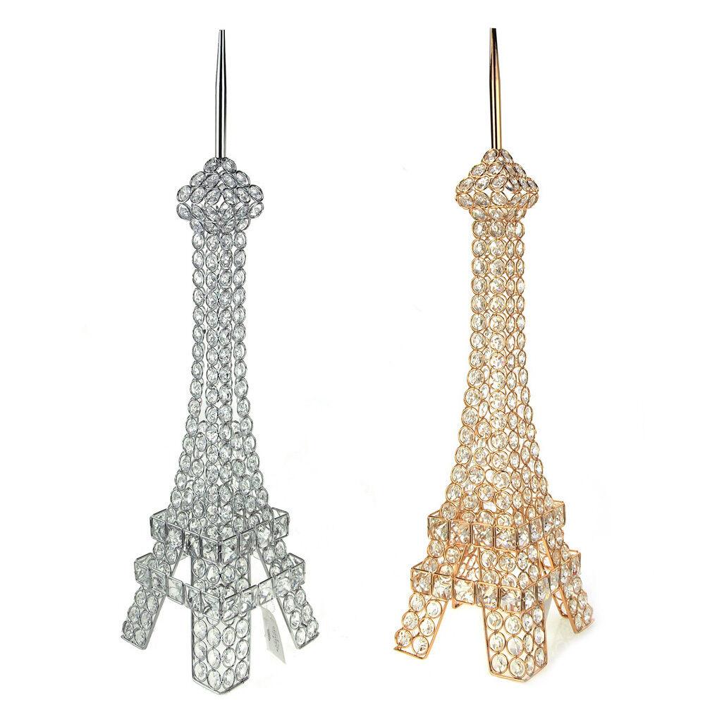 Crystal Gemstone Eiffel Tower Paris France Souvenir, 27-Inch